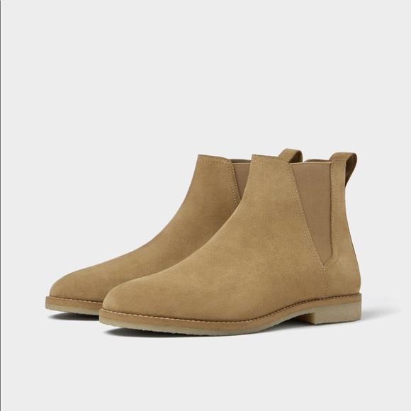 Zara Shoes | Mens Size 8 41 Eur Tan Leather Chelsea Boots | Poshma
