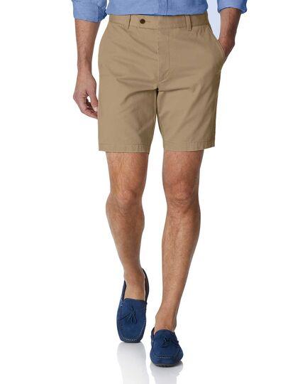 Tan chino shorts | Charles Tyrwhi