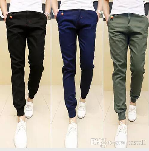 2020 New Mens Skinny Joggers Chinos Slim Pants Men Trousers Hip .