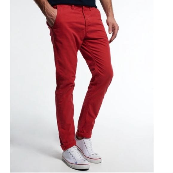 rag & bone Pants | Rag And Bone Men Red Chinos | Poshma