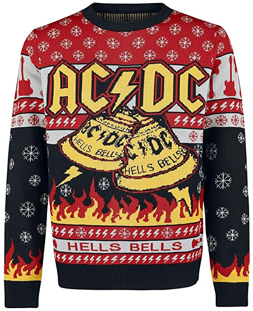 AC/DC Holiday Sweater 2019 Christmas Jumper Multicolour M: Amazon .