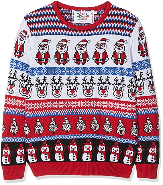 British Christmas Jumpers Kid's Comic Crazy Christmas Jumper .