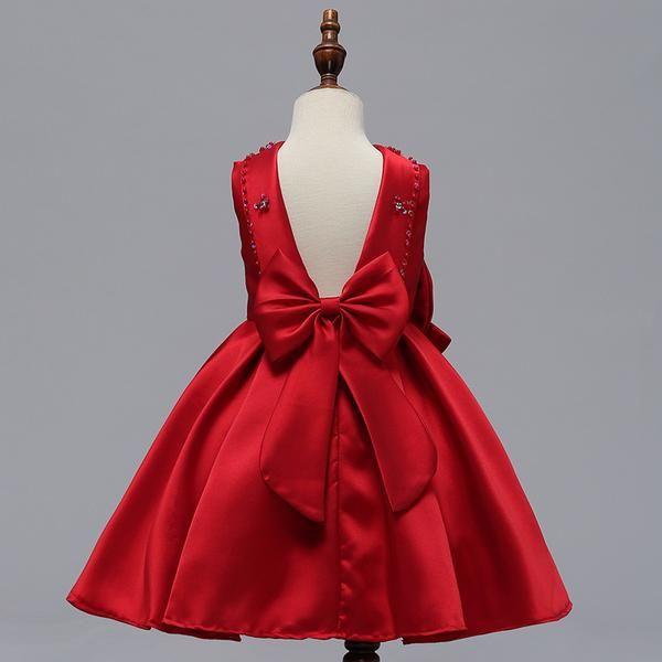 Girls Christmas Party Dresses | Red flower girl dresses, Dresses .