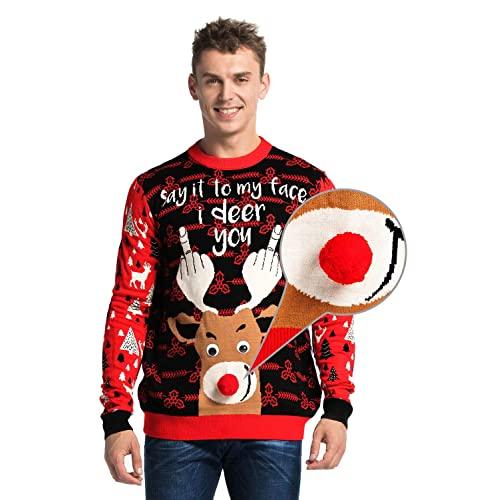 Rude Christmas Sweaters: Amazon.c