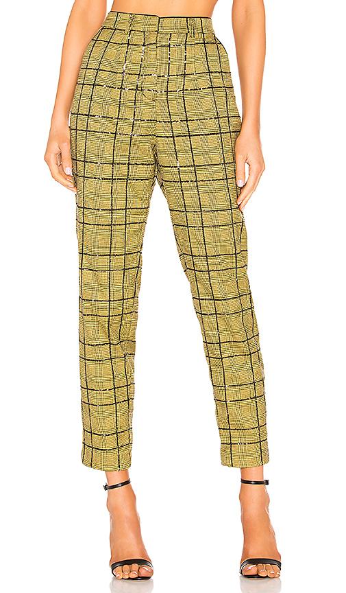 NBD Jackson Cigarette Pants in Saffron Yellow | REVOL