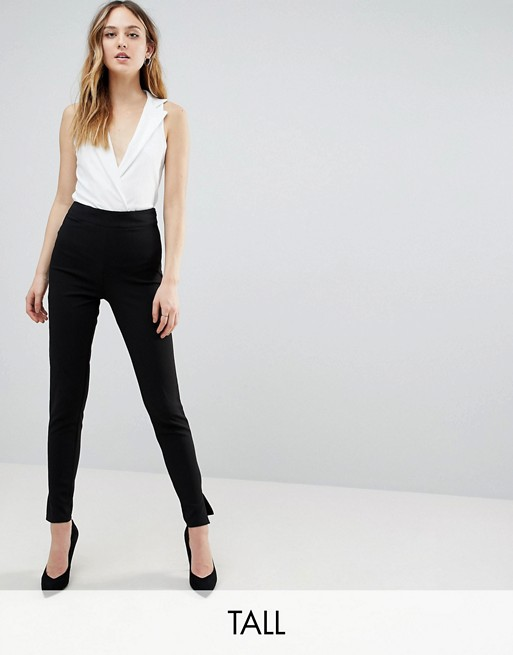 Missguided Tall cigarette pants in black | AS