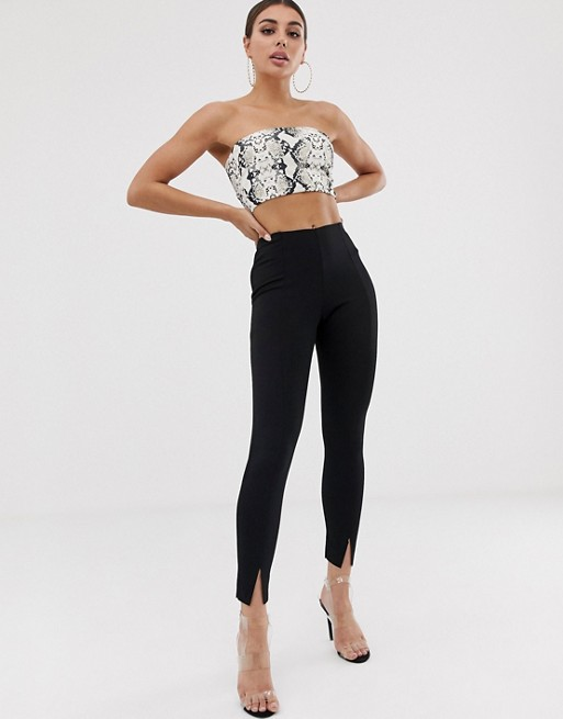 Missguided cigarette pants in black | AS
