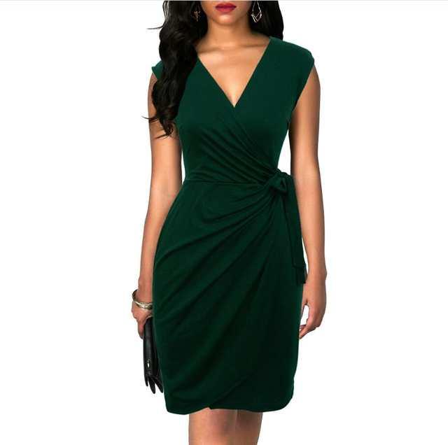 Berydress Elegant Classic Dress Polka Dots Draped Women Dresses .