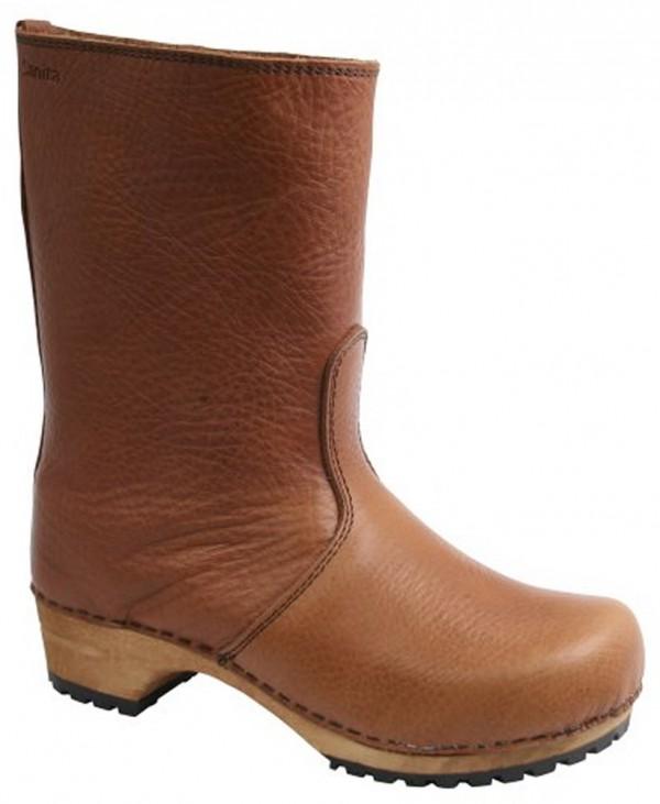 Sanita Puk Milled Leather Clog Boots 4564