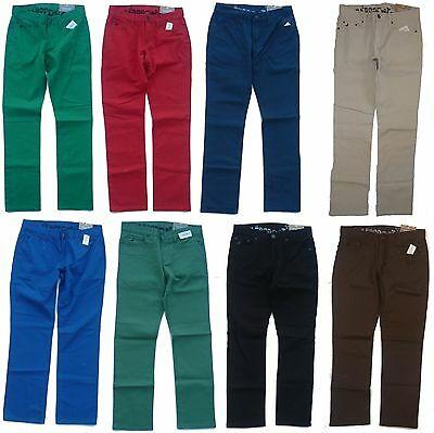 Mens Men's AEROPOSTALE Bowery Slim Straight Leg Colored Jeans .