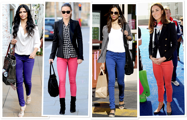 Lifestyle in Blog: How to wear Colored Jeans for winter & alwa