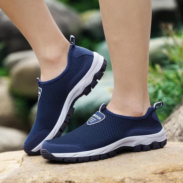 Plus Size Men's Outdoor Leisure Mesh Comfy Shoes – Lukv