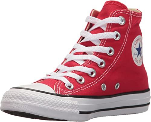 Amazon.com | Converse Unisex Kids' Chuck Taylor Hi Top Red Sneaker .