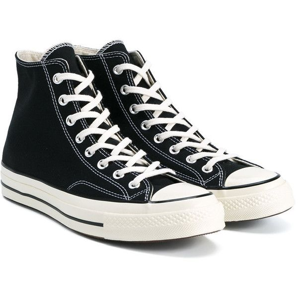 Converse Black All Star Hi 70's Trainers (5,065 INR) ❤ liked on .