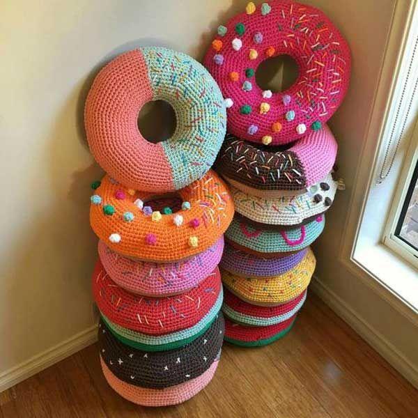 cool crochet patterns so cute crocheted donut pillows. – top 20 .