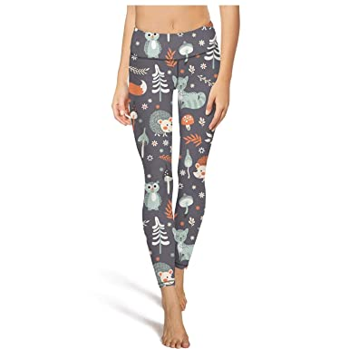 Amazon.com: Cute Woodland Animals Wise owl Running Tights Cool Gym .
