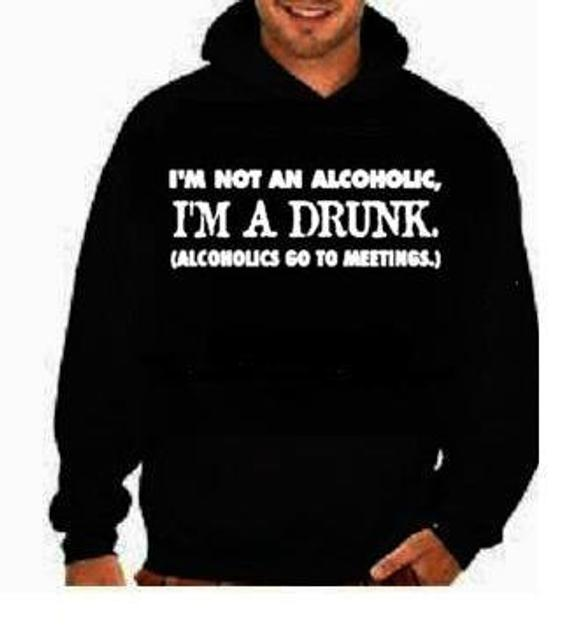Im not alcoholic :funny cool hoodies Funniest Humorous designs | Et