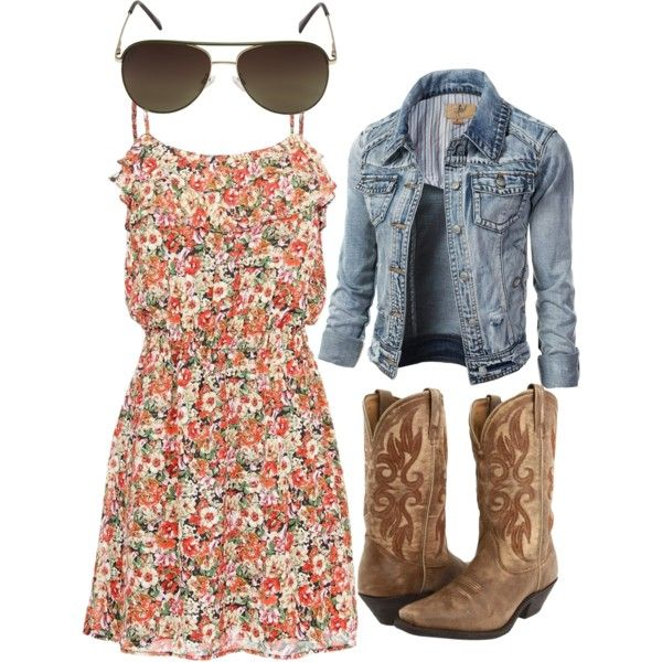 floral cowgirl dress with aviators in 2020 | Cowgirl dresses .