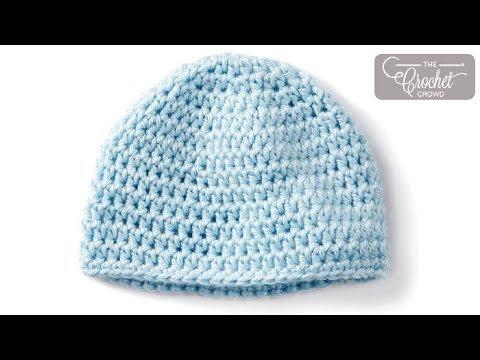Crochet Newborn Baby Hat Pattern - YouTu