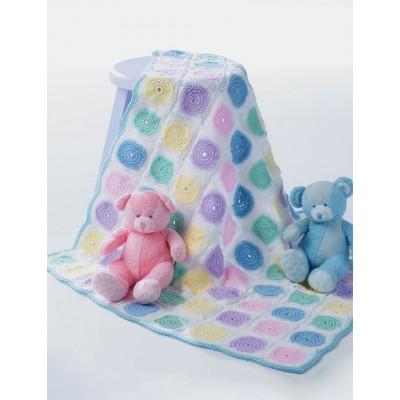 Patons Free Easy Baby's Blanket Crochet Pattern ⋆ Crochet Kingd