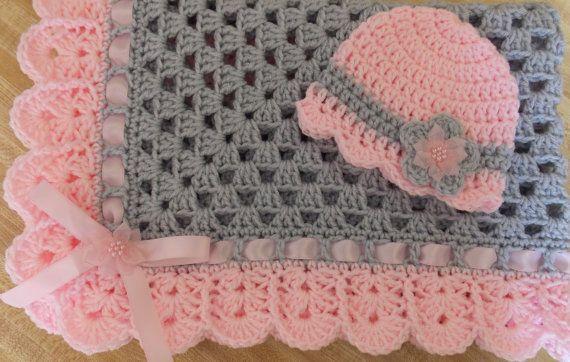Hand-crochet granny square crochet baby by TheShimmeringRose .