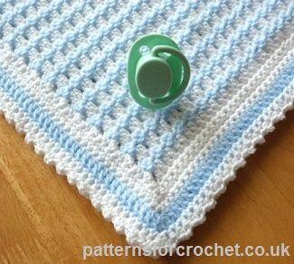 Blueberry Waffleghan | Crochet baby patterns, Baby blanket crochet .