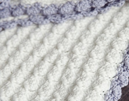 This Chic Free Crochet Baby Blanket Pattern With A Vintage Look Is .