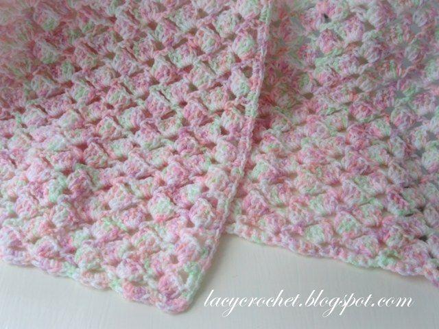 Lacy Crochet: Summer Baby Blanket in Variegated Yarn, Free Pattern .