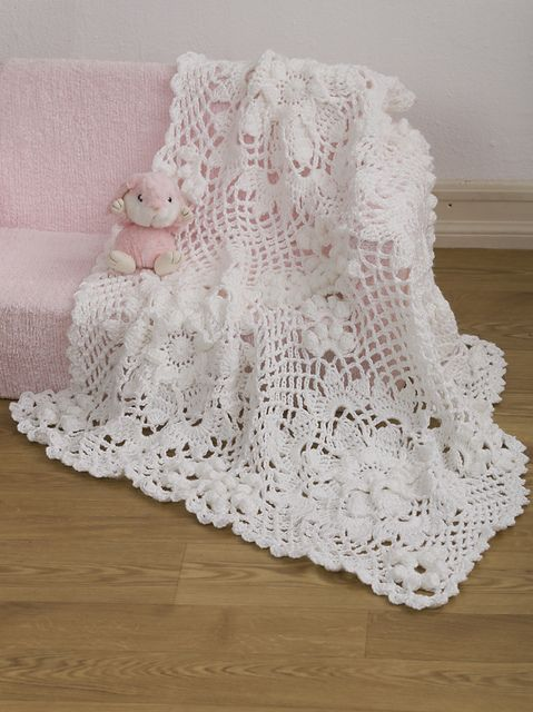 Ravelry: Lacy Squares Baby Blanket pattern by Josie Rabier | Baby .