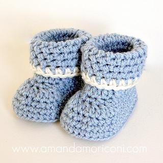 Cozy Cuffs Crochet Baby Booties Pattern pattern by ... - Ravel