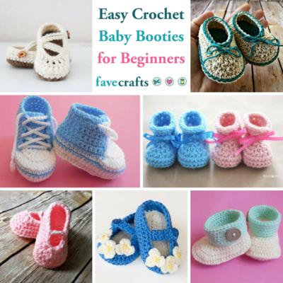 15 Easy Crochet Baby Booties for Beginners | FaveCrafts.c