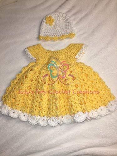 Amazon.com: Baby Newborn Infant Dress and Hat Set - Easter Dress .