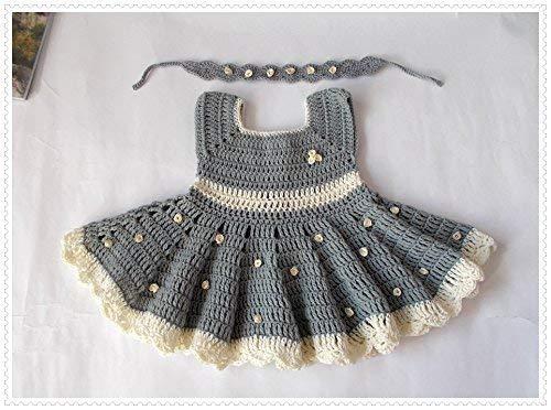 Amazon.com: Crochet Baby Dress, Newborn Dresses Baby Shower Dress .
