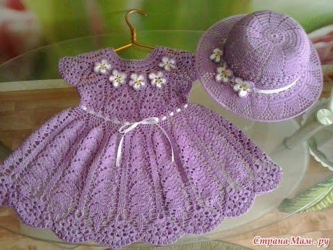 Crochet Patterns  for free  crochet baby dress  180 - YouTu