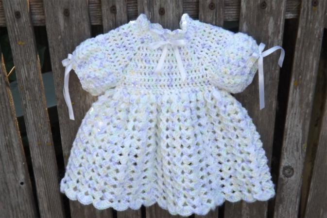 Free Crochet Baby Dress Pattern   LoveToKn
