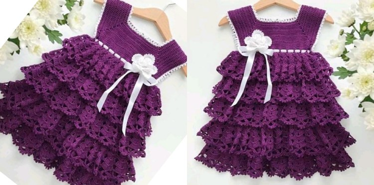 Crochet Baby Dress – DIYFASHIONH