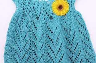 Tulip Chevrons Crochet Baby Dress | AllFreeCrochet.c