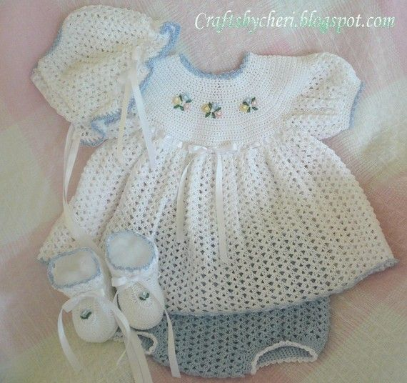 Crochet baby dress pattern can I get this for free... Baby Dre