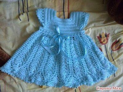 Blue Princess Dress free crochet graph pattern   Crochet baby .