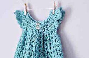 FREE Baby Dress Crochet Patterns | Crochet baby dress pattern .