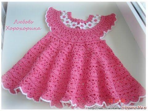 Your Baby will look In the Crochet Baby Dress Pattern | Crochet .