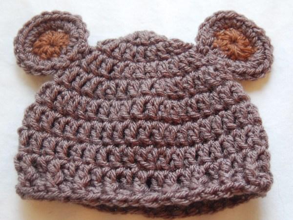 Newborn Bear Hat Crochet Pattern & Crochet Baby Bear H