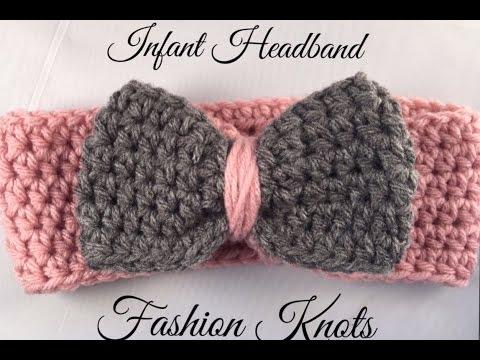 Crochet Infant Headband Tutorial - YouTu