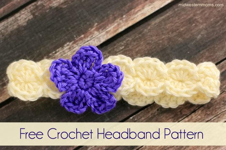 Free Crochet Flower Headband Patte