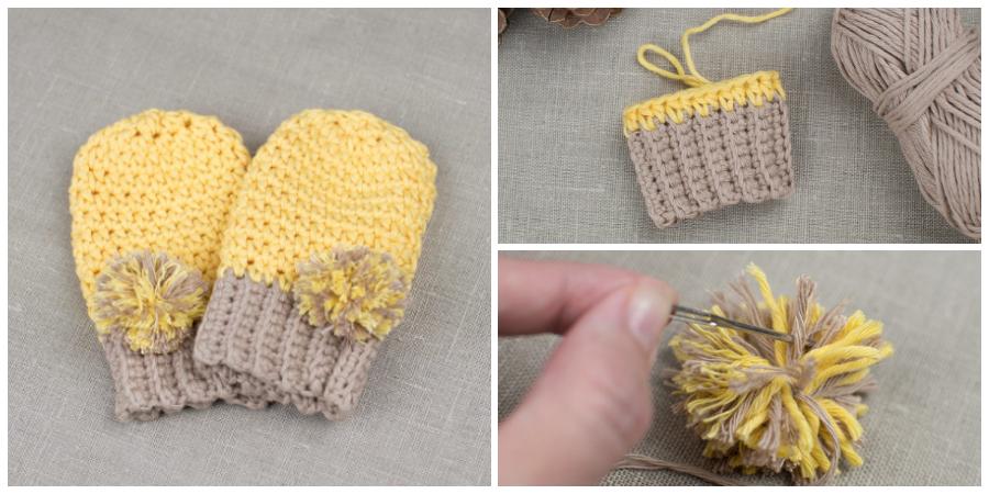 How To Crochet Baby Mittens - Crochet Kingd