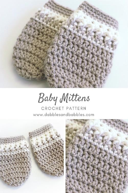 Free Crochet Patterns | Free Crochet Pattern Baby Mittens - Free .