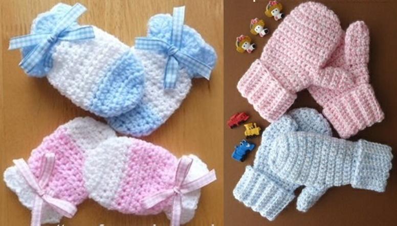 Wonderful DIY Crochet Kids Mitten with Free Patte