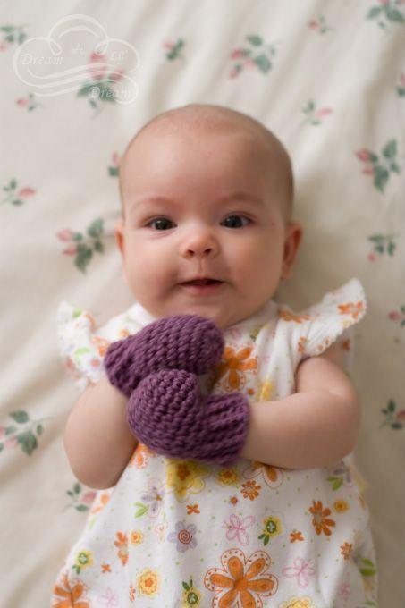 Crocheted Baby Mittens | Crochet baby mittens, Crochet baby .