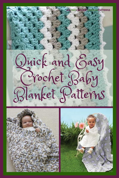 40+ Quick and Easy Crochet Baby Blanket Patterns .