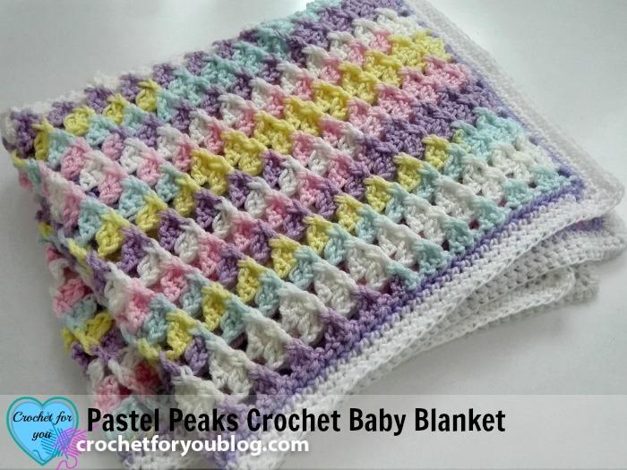 Pastel Peaks Crochet Baby Blanket Free Pattern - Crochet For Y